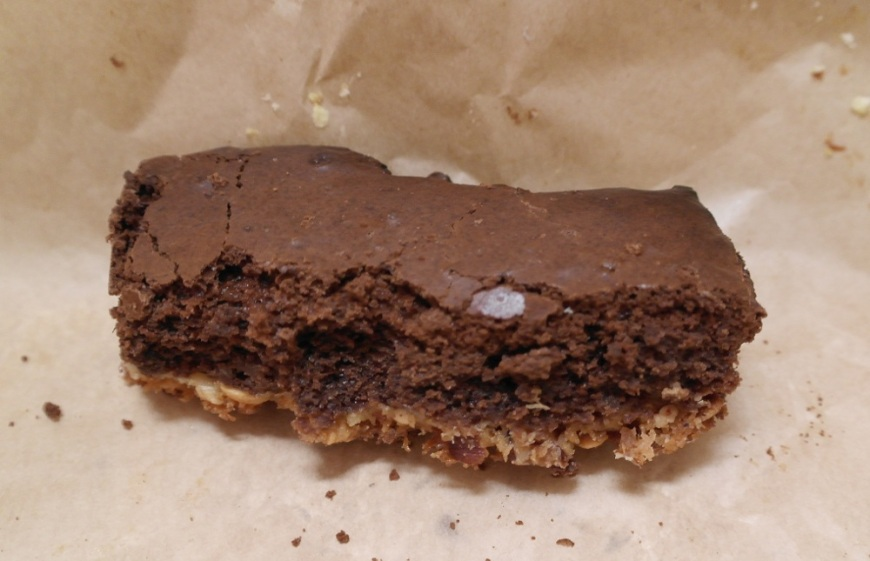 Chocolate flapjack brownie